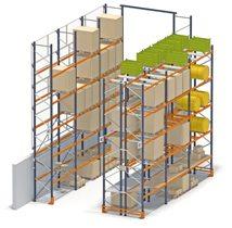 Фронтальный стеллаж для склада с полным доступом к каждой единице хранения